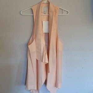 NEW Aryn K. Peach Silk Vest