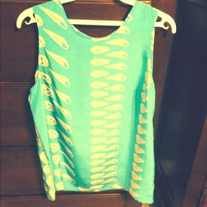 Summer shell print tank-beach perfect!