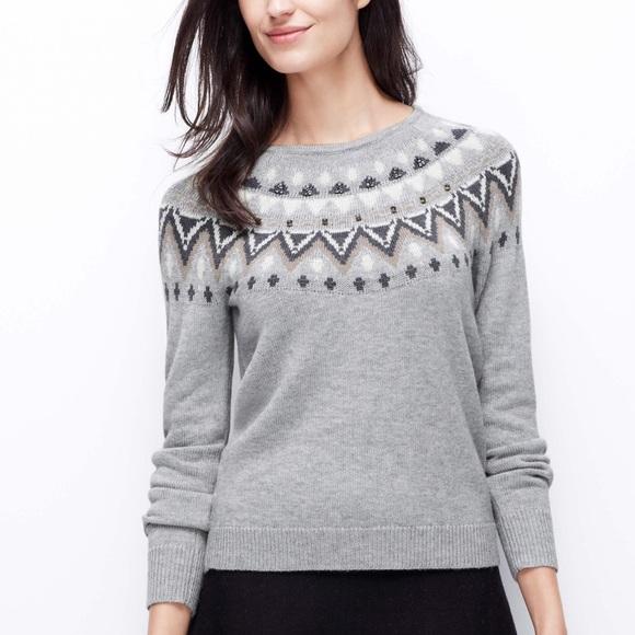 87% off Ann Taylor Sweaters - SALE⚡️Ann Taylor Jewel Detail Fair ...
