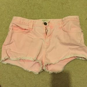 Current Elliott Pink Jean Shorts size 28