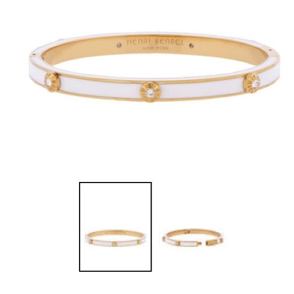 Henri Bendel Jewelry Bangle Bracelet Whitegold Poshmark