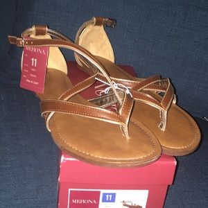 3391c41c9d11 Merona Shoes - TARGET Emily Sandals (Cognac)