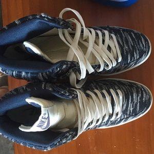 Nike Shoes - Nike hidden heel high tops sneakers 94908ee9d3