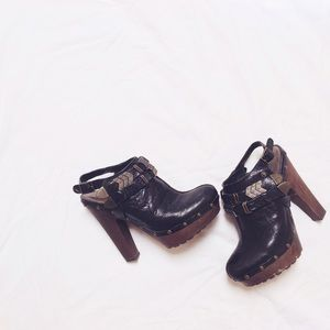 Jeffrey Campbell leather clogs