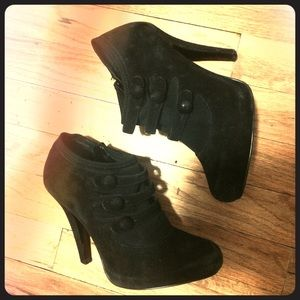 Jessica Simpson Shoes - Jessica Simpson Suede Black Booties