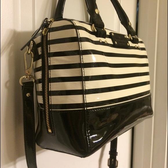 Black And White Striped Handbags Kate Spade Black White Striped