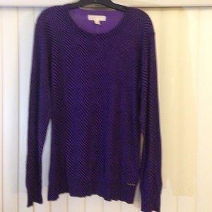 Purple/Black Michael Kors Top- Size XL