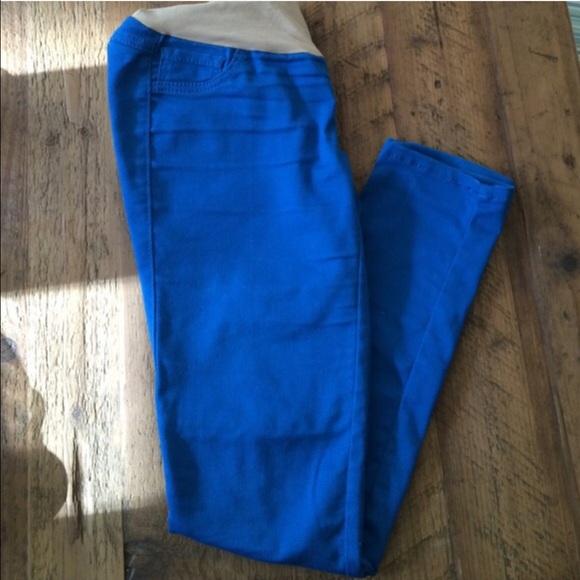 Motherhood Maternity - 💥SALE💥 Royal Blue Maternity Skinny Jeans ...
