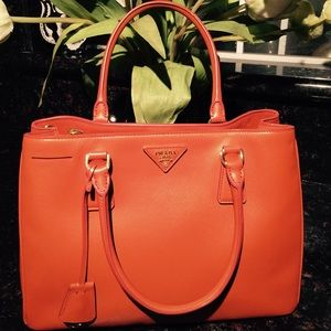 28% off Prada Handbags - PRADA papaya saffiano handbag from Ivy\u0026#39;s ... - prada galleria bag papaya