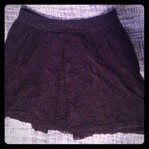 Free People lace skirt with crochet trim