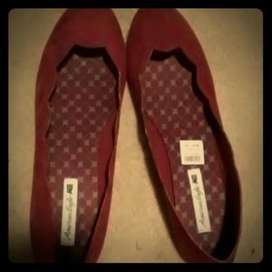 Red American Eagle Slip Ons
