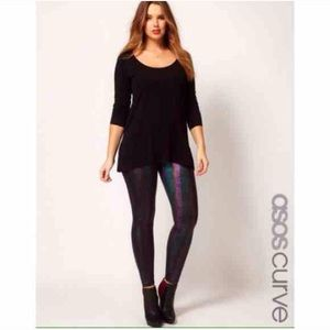 ASOS Pants - ASOS Curve Hologram Leggings .99 shipping! Ask!