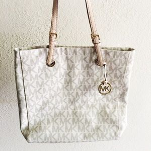 Michael Kors Vanilla Jet Set North South Tote