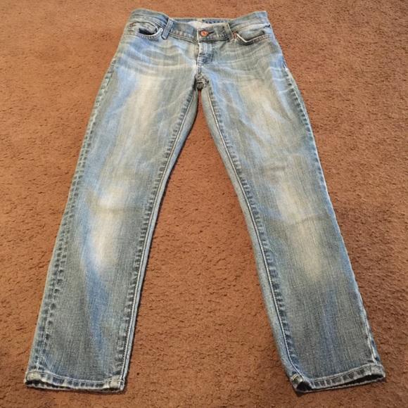 94 off 7 for all mankind denim sale 7 for all mankind crop jeans from julie 39 s. Black Bedroom Furniture Sets. Home Design Ideas