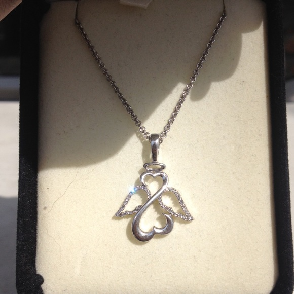 1074ad122 Kay Jewelers Jewelry | Open Heart Angel Necklace | Poshmark