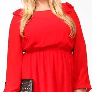 Forever 21 Dresses & Skirts - Red ruffle dress