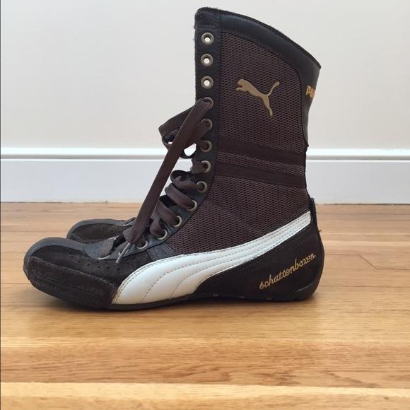 USED] Puma Schattenboxen Hi top leather boxing shoes, Men's