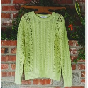 Nwt equipment Amber lemongrass cashmere sweater