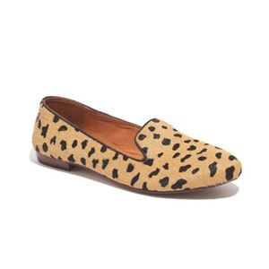 madewell calf hair loafers