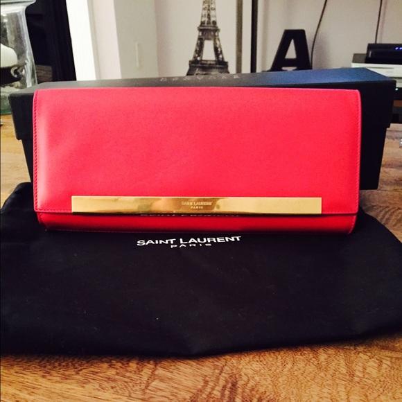 Yves Saint Laurent Bags   Amazing Ysl Lutetia Leather Flap Clutch ... 2813ab0c05