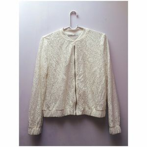 Zara White Lace Jacket