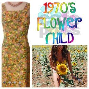 1970s Mod Groovy Vintage Hippie Costume Dress