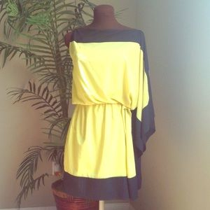 Robert Rodriguez yellow/black summer dress