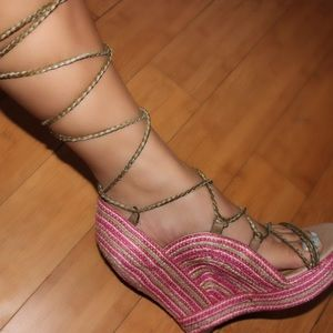 Jeffrey Cambell Lace Up Wedges