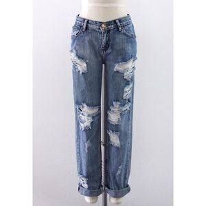 One Teaspoon Baggie Distressed Denim Pants
