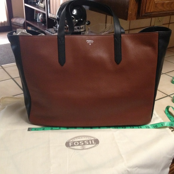 32% off Fossil Handbags - Authentic fossil black and brown tote ...