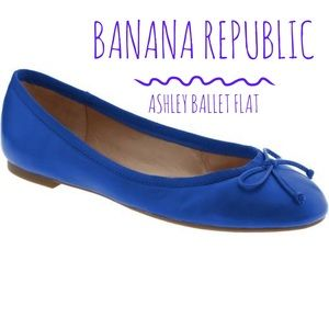  Banana Republic Cobalt Blue Ashley Ballet Flat