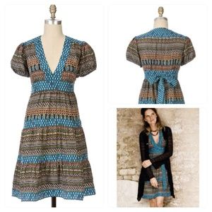 Anthropologie Living Teal Dress