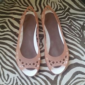 Coral Jelly Crocs  Size 6