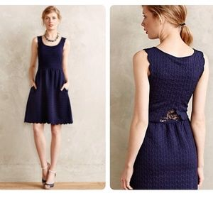 Anthropologie Caye Scalloped Dress