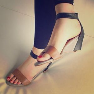 new directions Shoes - Wedge Sandals with Ankle Strap
