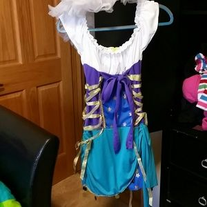 Gypsy Halloween costume with white tutu