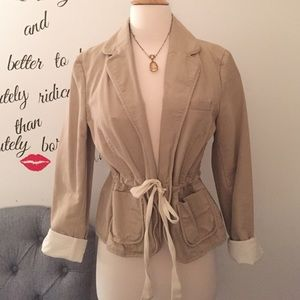 One of a kind drawstring blazer!