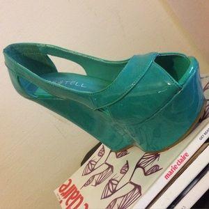 Shoes - Sea green wedge