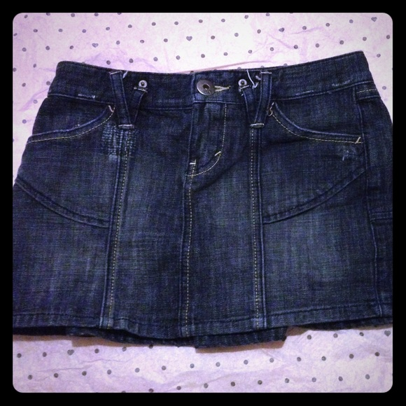 Armani exchange denim mini skirt