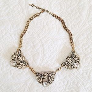 Charlotte Russe Jewelry - Gold Triad Acrylic Statement Necklace