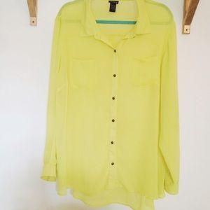 torrid Tops - ❌SOLD❌ Neon Citrus Button Up Blouse
