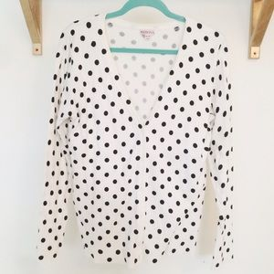 Merona Sweaters - ❌SOLD❌ Polka Dot Cardigan NWOT