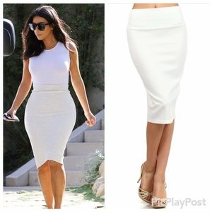 30% off Dresses & Skirts - All White Affair Pencil Halter Dress M ...