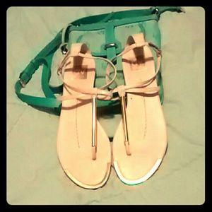 Beige gold Dolce Vita sandals