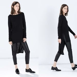Zara Tops - Black front short back long dress top