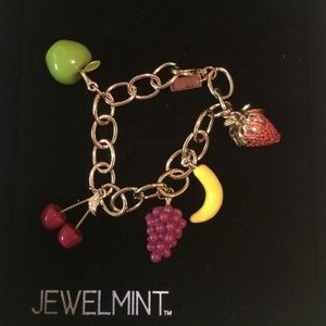 Jewelmint Fruit Charm Bracelet