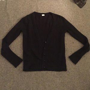 Black J Crew cardigan sweater