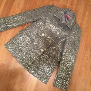 Alice + Olivia Teagler Sequin Patch Pocket Peacoat