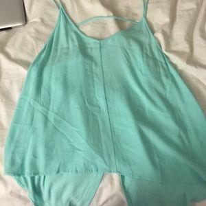 Lush turquoise open back