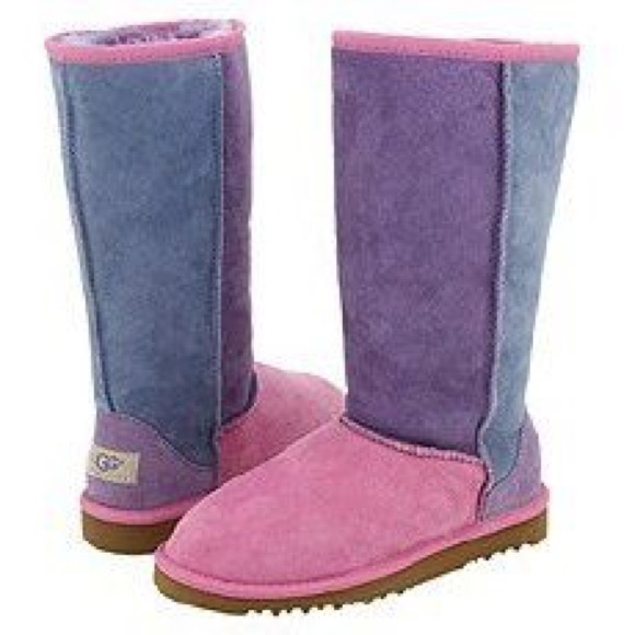 pink and purple uggs